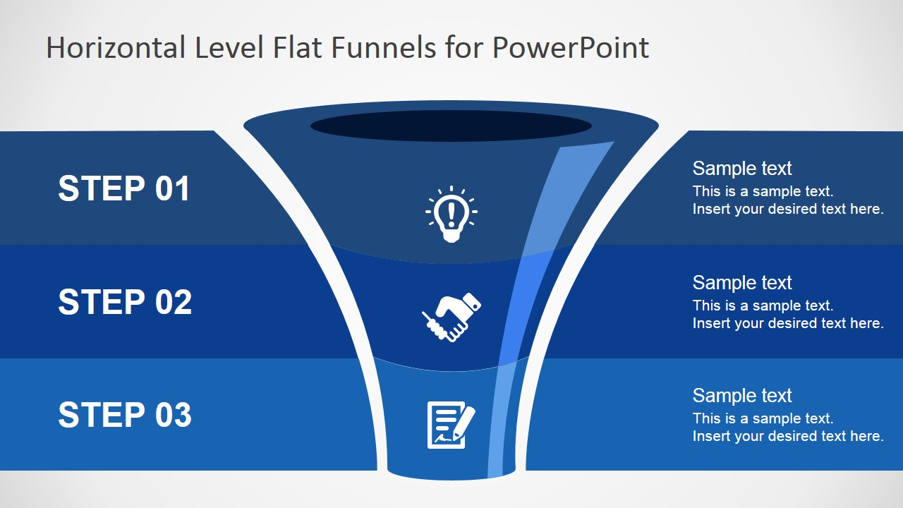 Free flat funnel powerpoint template slidemodel funnel powerpoint diagram create outstanding funnel diagrams with this free powerpoint template toneelgroepblik