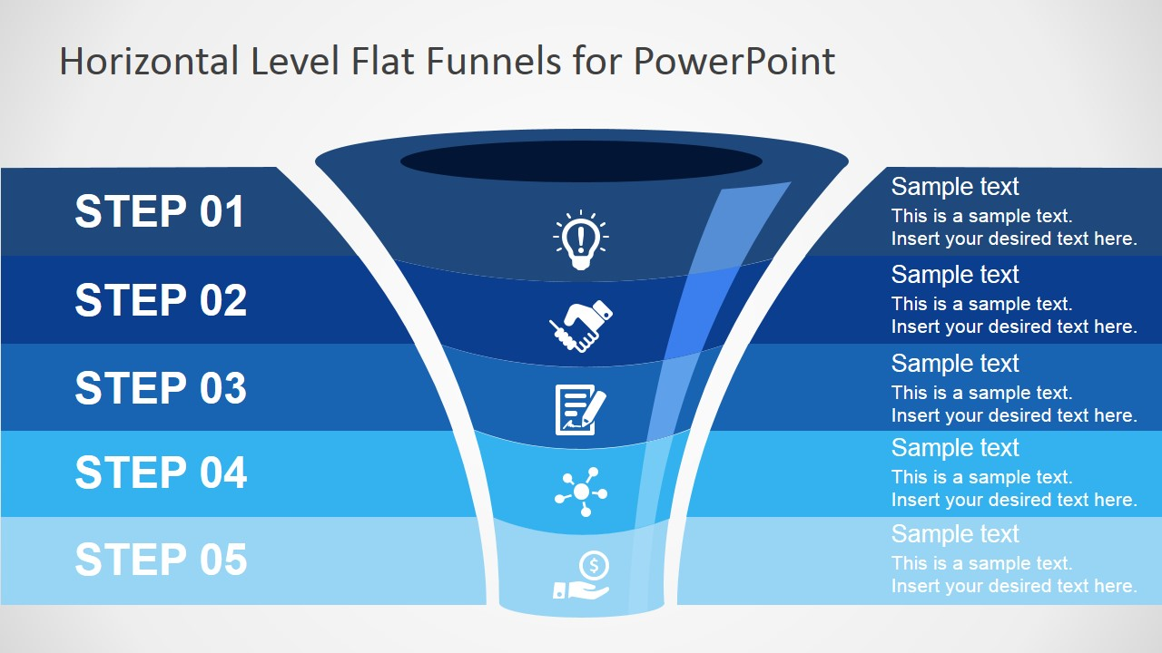 Free flat funnel powerpoint template slidemodel free ppt funnel diagram toneelgroepblik Gallery
