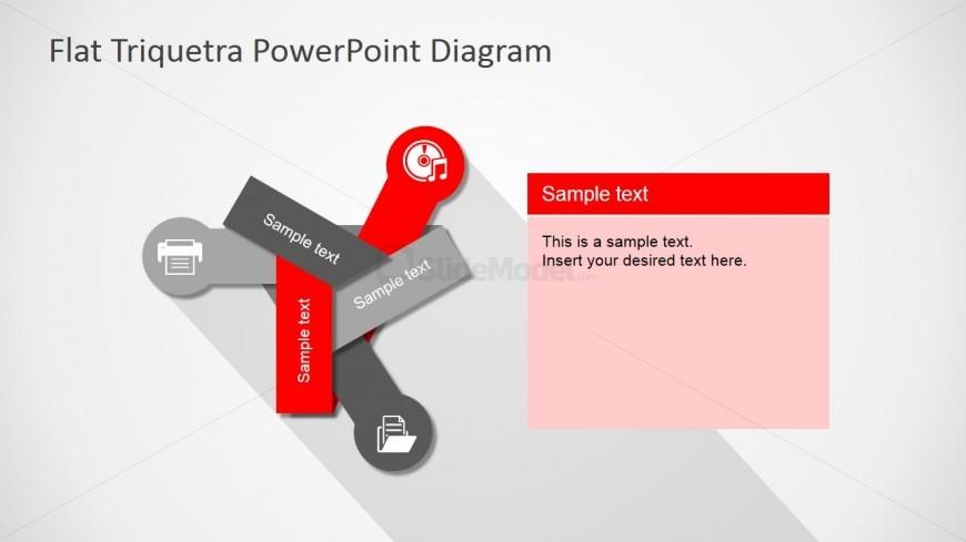 Free PPT Three Steps Flat Diagram