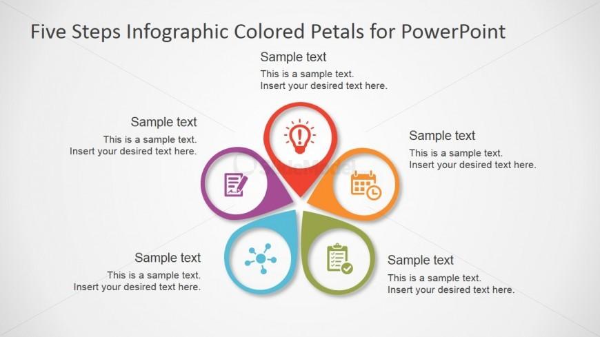 free powerpoint template five steps diagram slidemodel
