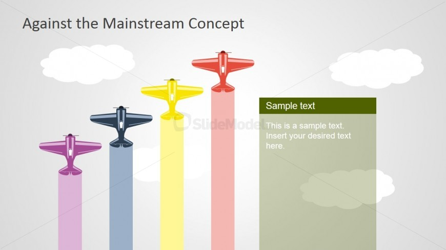 PPT Scene with Planes Shapes