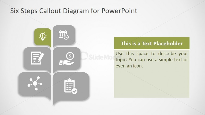 PPT Diagram Callout Design Six Steps
