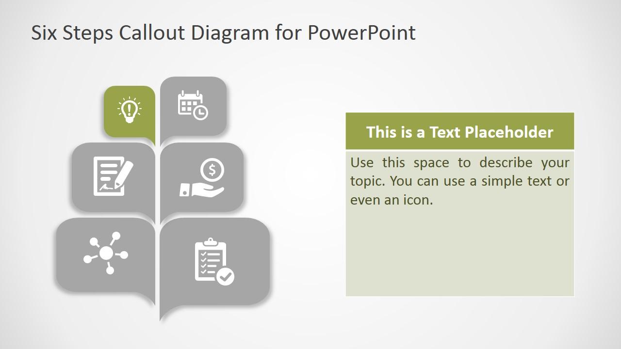 PPT Diagram Callout Design Six Steps