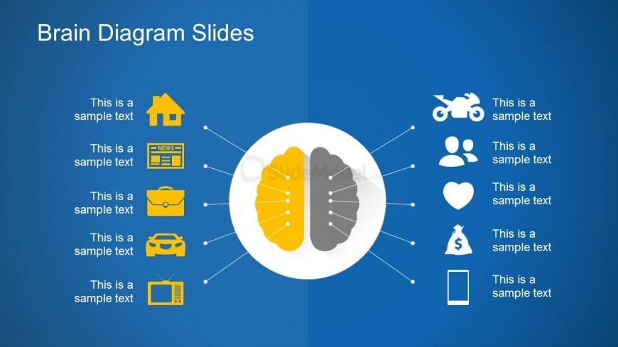 Free Download Brain Diagram PowerPoint Slides