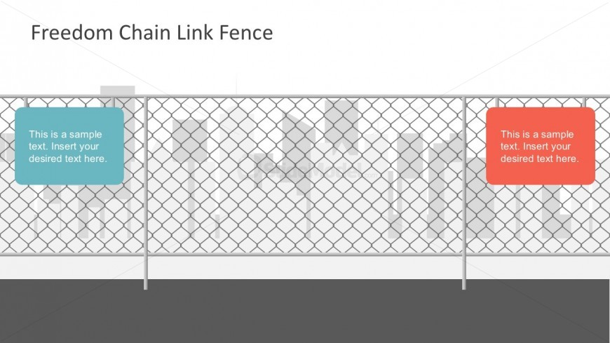 Free PowerPoint Templates Chain Fence