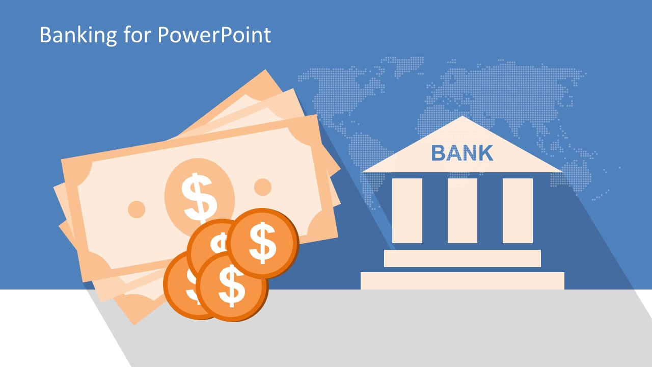 free bank industry powerpoint template, Presentation templates