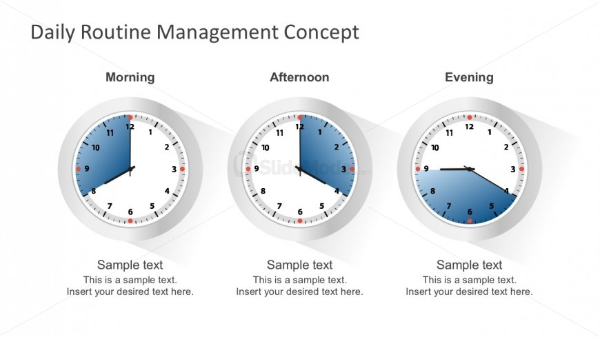 free routine clock schedule template for powerpoint slidemodel