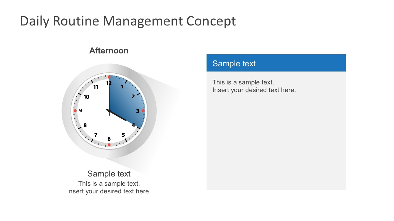 Free PowerPoint Analog Clock Shape With Text Field
