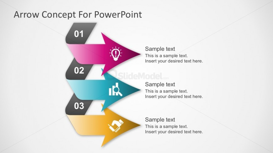 Free 3 Step Chevron PowerPoint Template - SlideModel