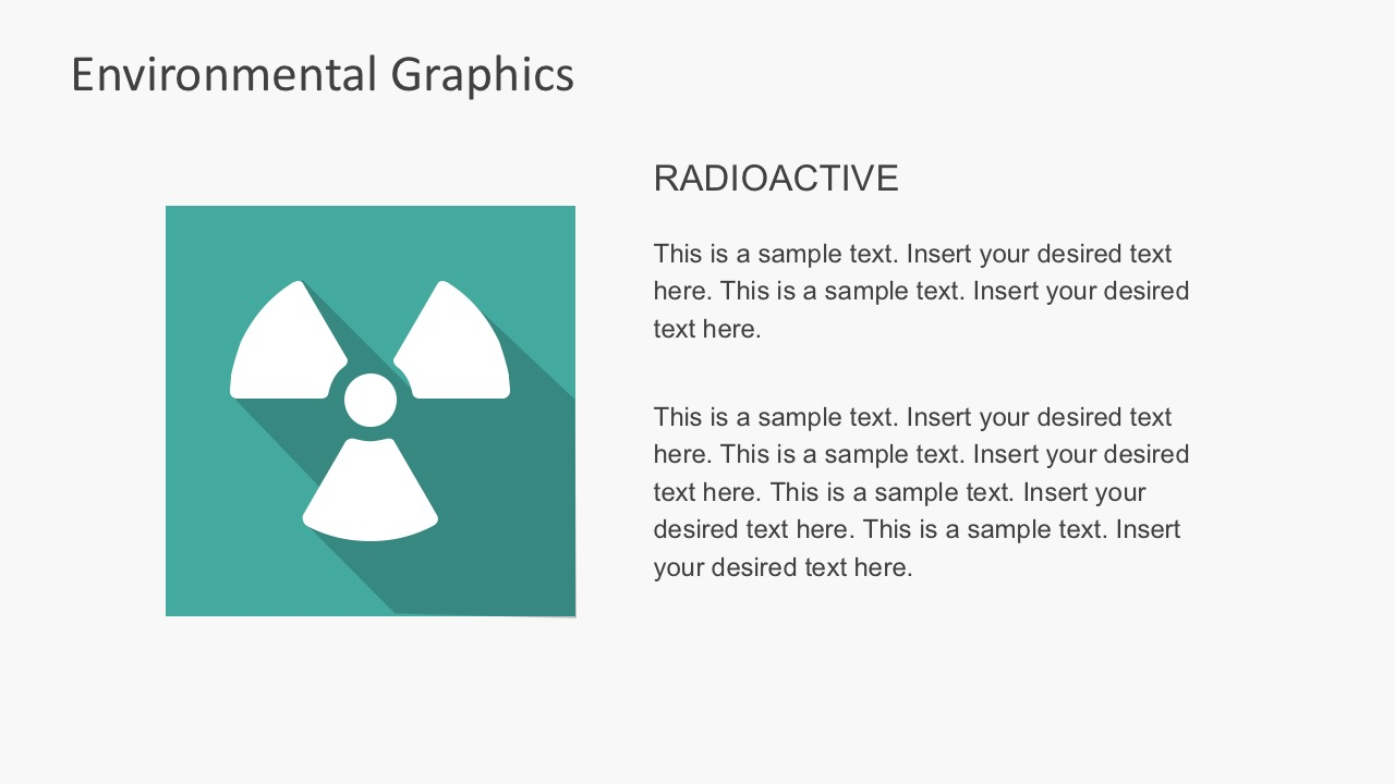 Free Flat Radioactive PowerPoint Shapes With Shadows