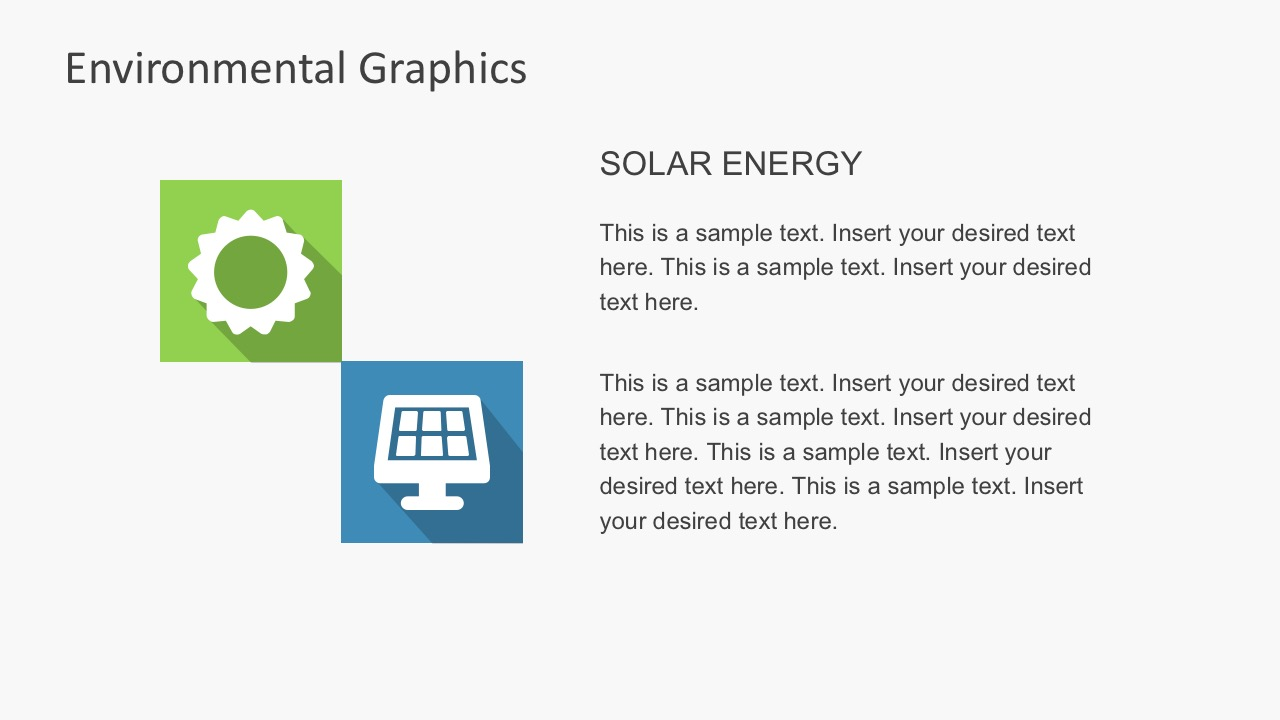 Free Environmental PowerPoint Shapes With Long Shadows