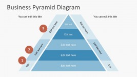 3 Steps Pyramidal Diagram Free Presentations