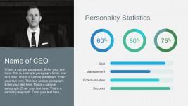 Free Company Profile Statistics with Percent Charts