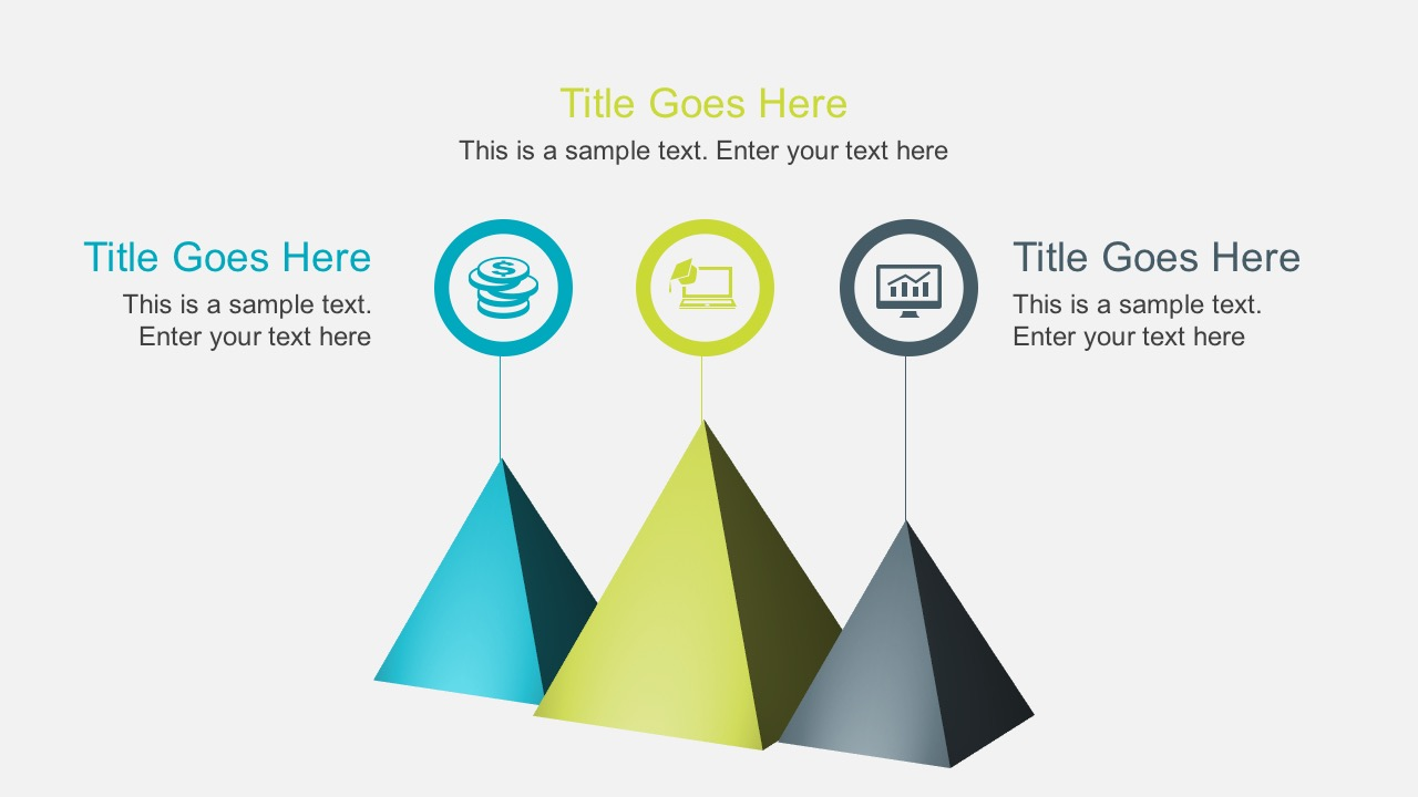 Cool Pyramids with PowerPoint Icons Free