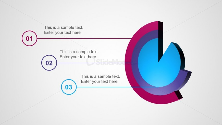 3 Layers Pie Charts Point Vectors For Free