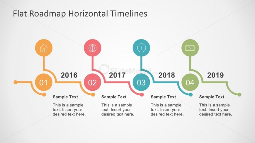 Free Vectors For Roadmap Horizontal Timelines