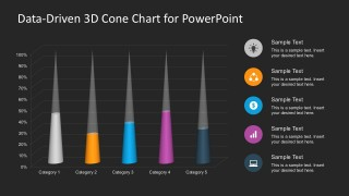Free Data Driven 3D Cone Diagram PowerPoint Templates