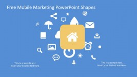 Free Mobile Marketing PowerPoint Shapes Vectors