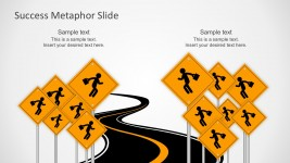 Free Road To Success Metaphor PowerPoint Templates
