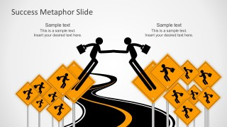 Free Corporate Slides With Road Metaphor To Success