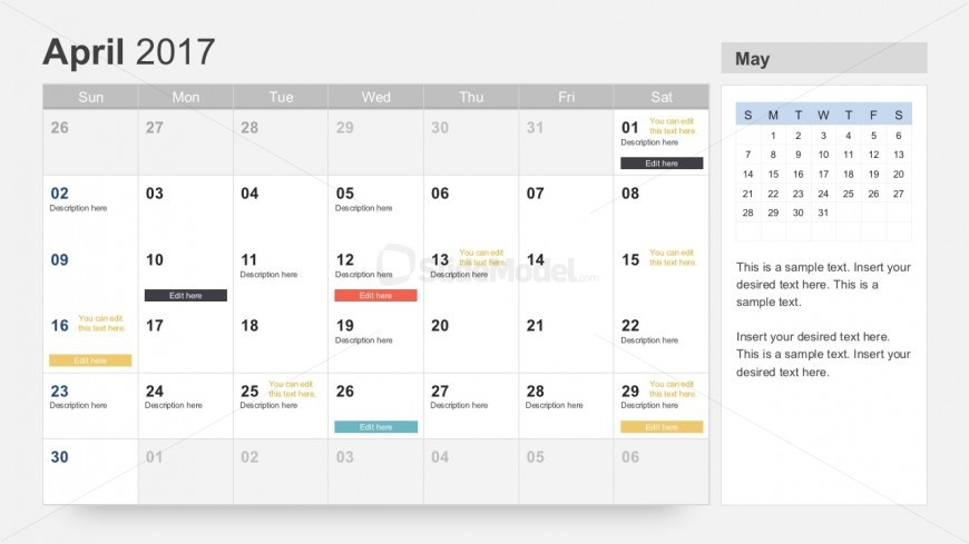 Free 2017 Calendar Slides For Project Planning SlideModel