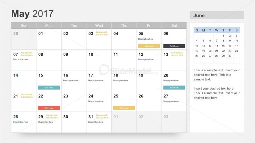 Free Editable Calendar Templates Slidemodel