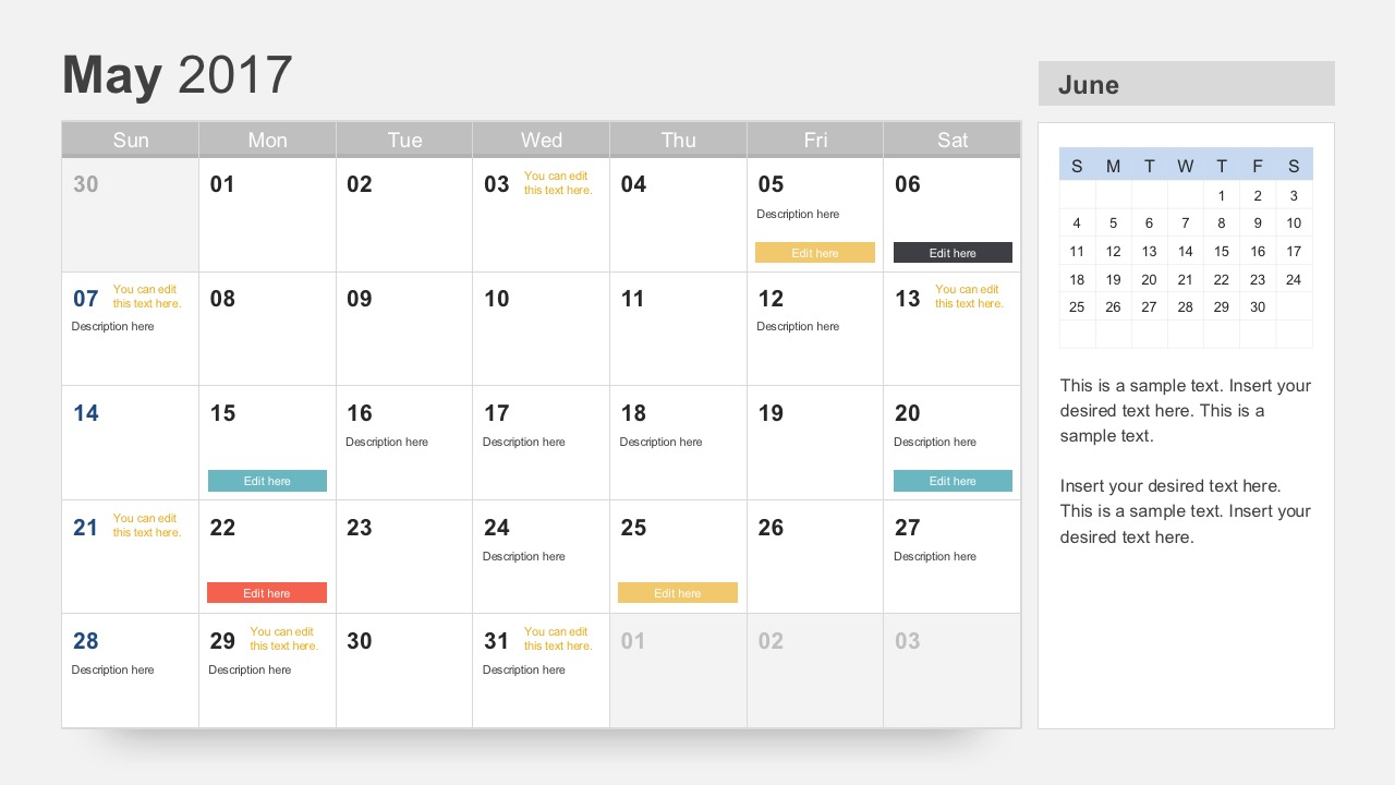 Calendar Templates Powerpoint   Guve.securid.co
