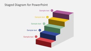 Colorful Ladder Steps PowerPoint Diagram