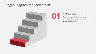 1st Step Ladder Diagram PowerPoint Slide