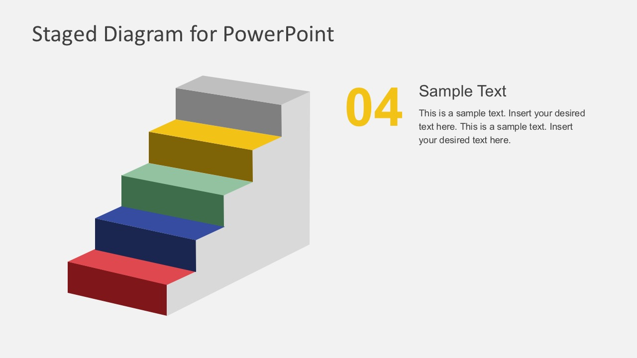 Free 5 Step Staged Diagram In PowerPoint