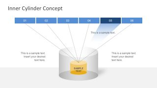 Simple Cylinder Diagram Free PowerPoint