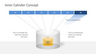 Free 6-Steps Inner Cylinder Business PowerPoint