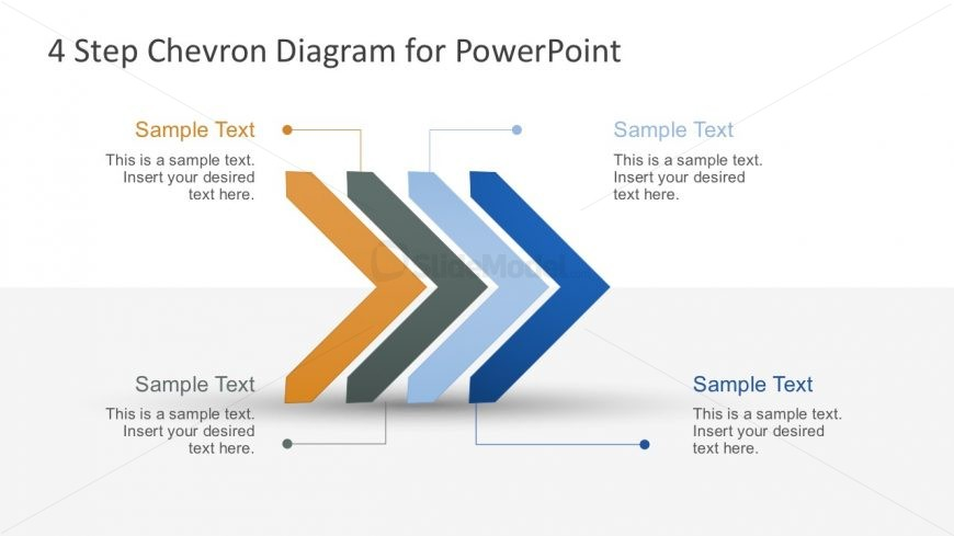 Free 4-Step Chevron Infographic Business Slides