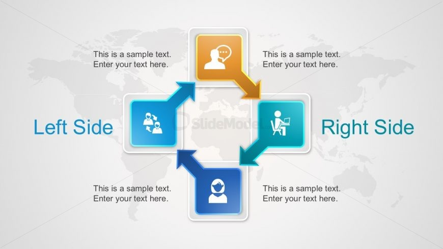 Editable 3D Cycle Infographics for PowerPoint