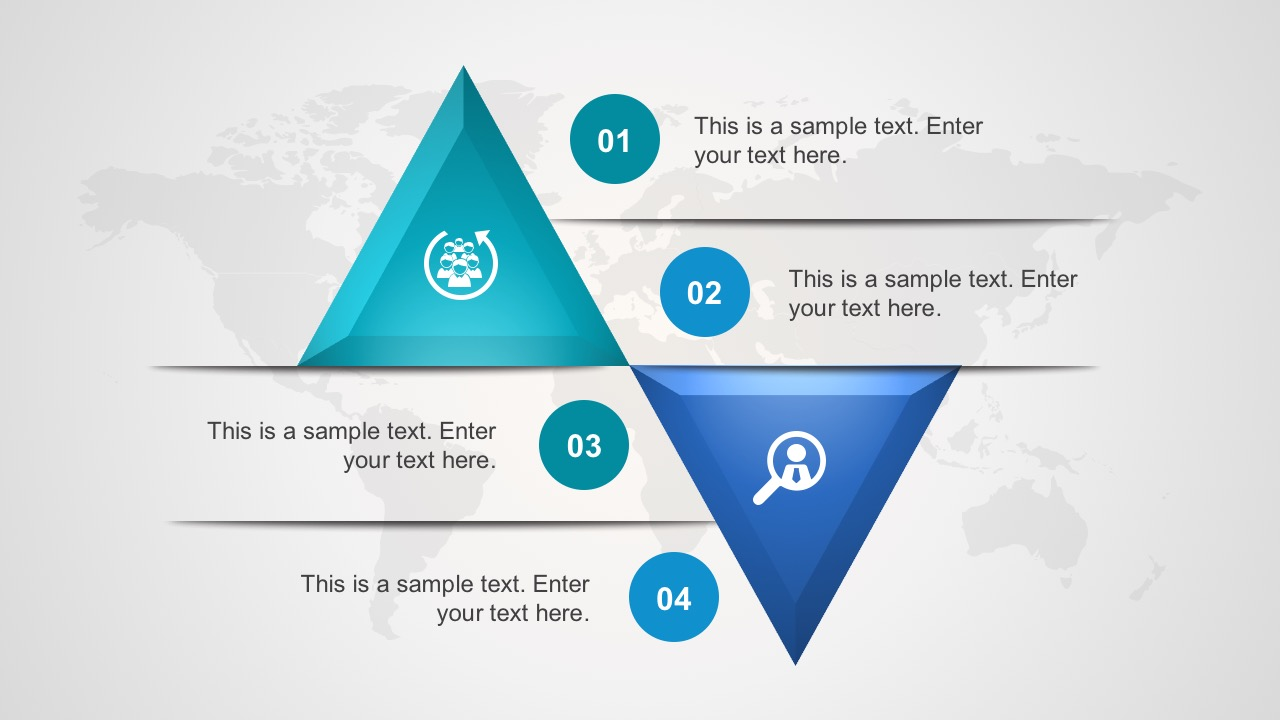 Free 4 Step Triangle Shape Diagram for PowerPoint