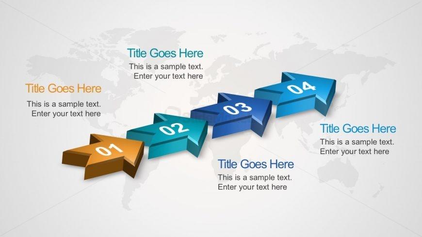 Free 4-Step Arrow Diagram Editable PowerPoint