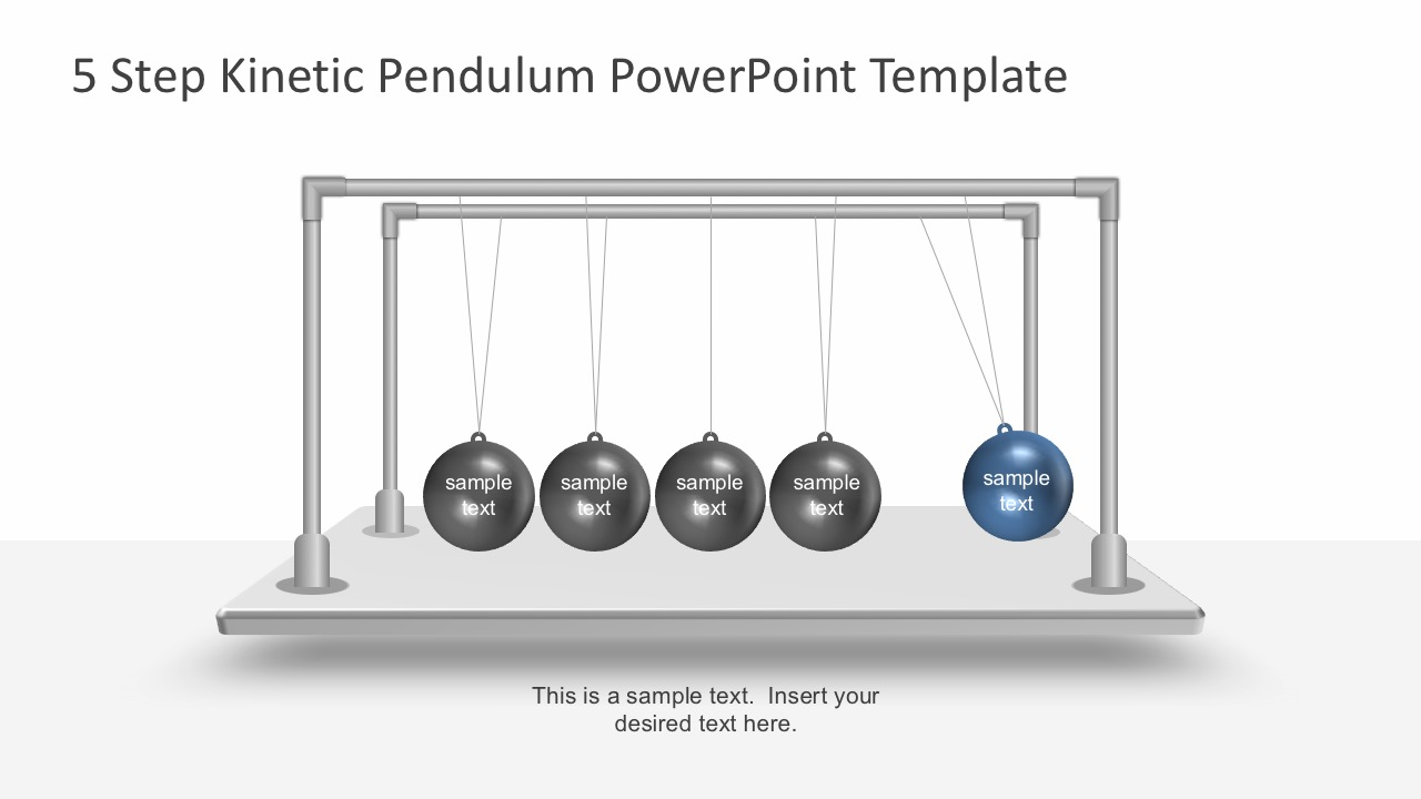 Free Kinetic Newton's Cradle Pendulum PowerPoint Template