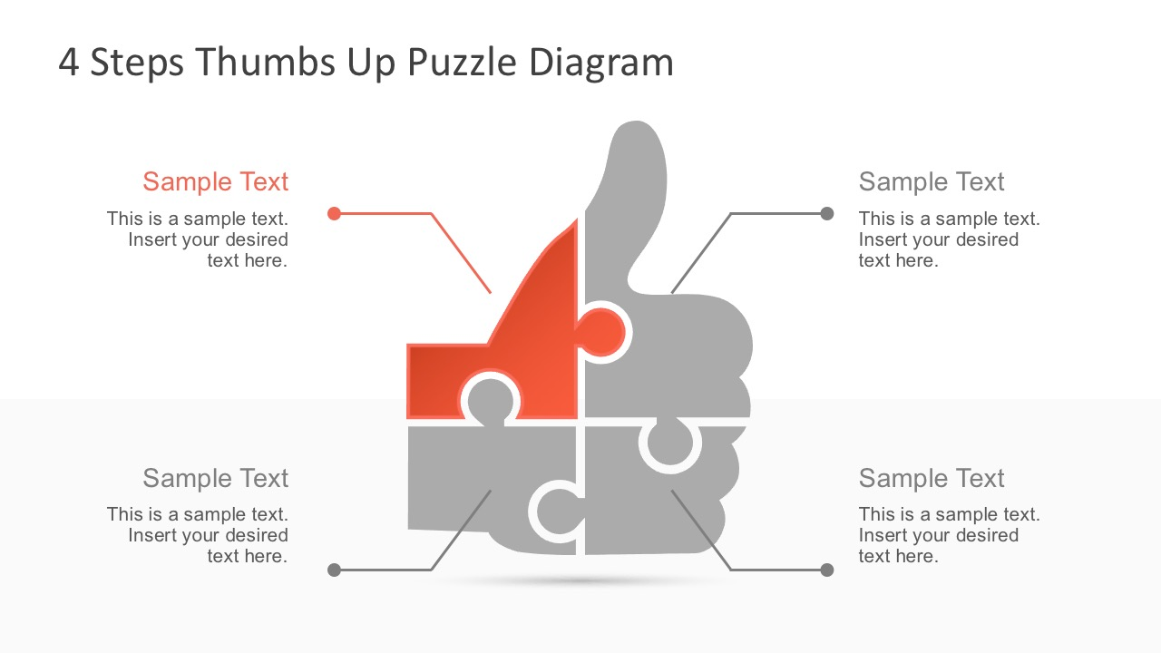 Free 4 Steps Thumbs Up Infographic Diagrams