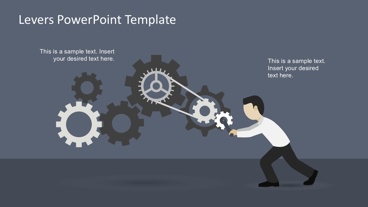 free levers powerpoint template - slidemodel, Modern powerpoint