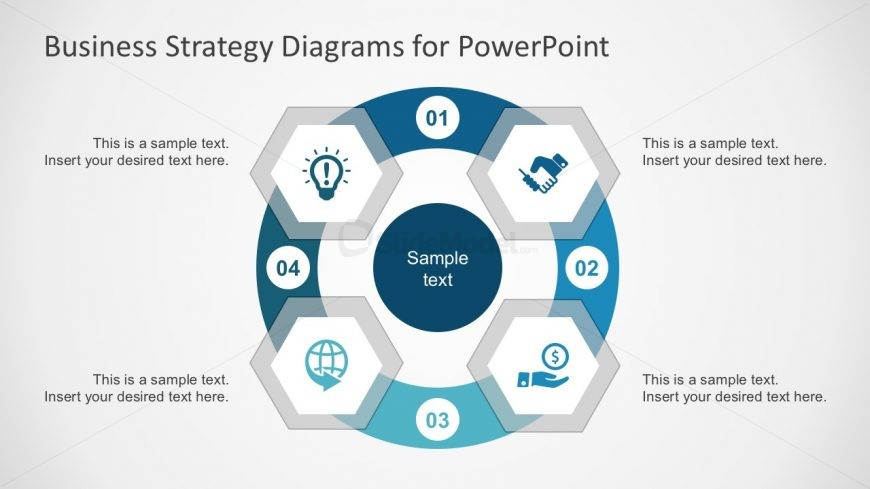 Hexagonal Diagrams with PowerPoint Icons - SlideModel