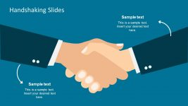 Blue Background Free Handshaking PowerPoint Design