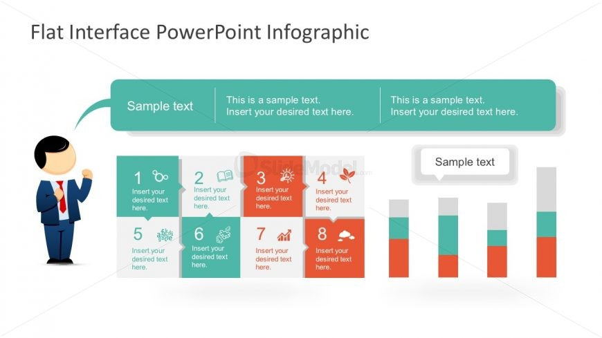 Free Diagram for PowerPoint with Mike Character
