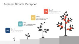 Free 4 Step Tree Diagram PowerPoint