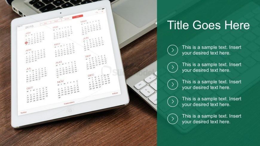 Free Calendar Checklist PowerPoint Template