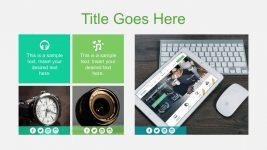 Editable Photo Slide with  Social Media Icons