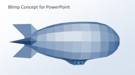Blimp Pixel Design Shape