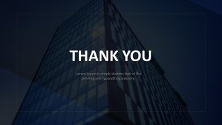 Business Theme Thank You Slide