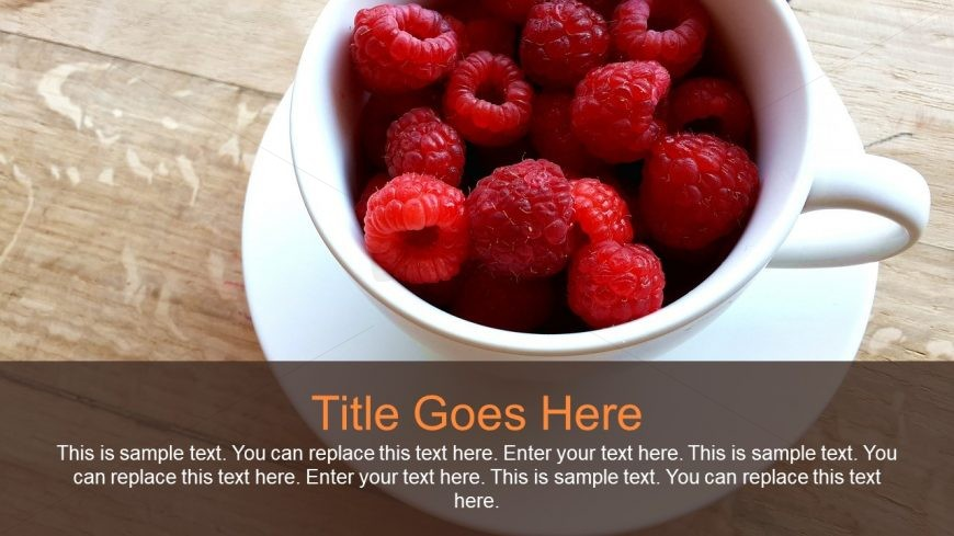 Raspberry Healthy Food Presentation PPT