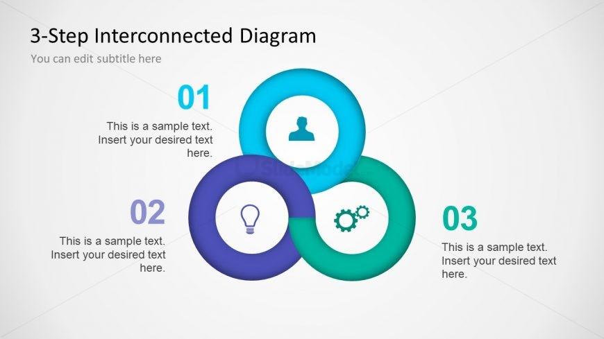Business Diagram of 3 Step Design