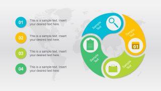 4 Step Yin Yang Design Circular Diagram